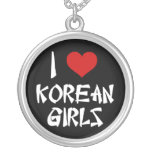 I Love Korean Girls Necklace