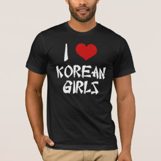 I Love Korean Girls Shirt