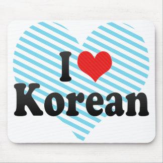 I Love Korean Mouse Pads