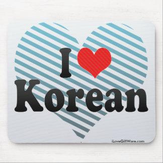 I Love Korean Mousepads