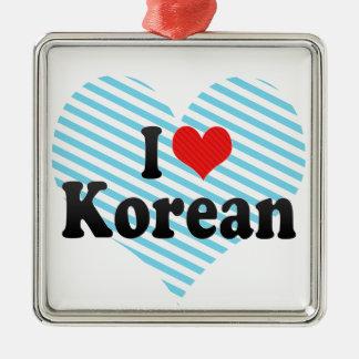 I Love Korean Christmas Ornaments