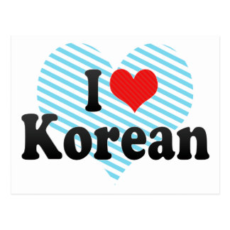 I Love Korean Postcard