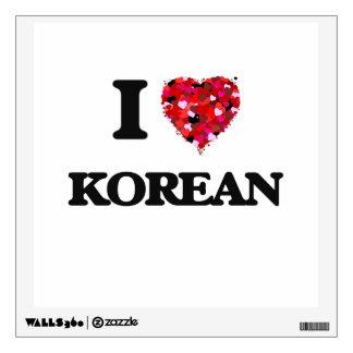 I Love Korean Wall Graphic