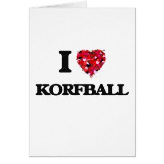 I Love Korfball Card