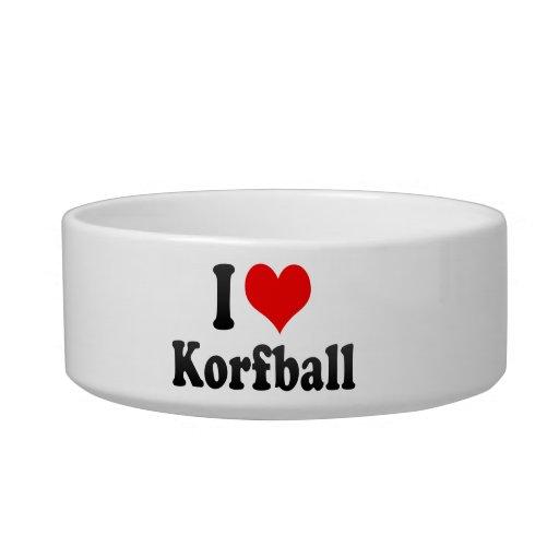 I love Korfball Pet Food Bowls
