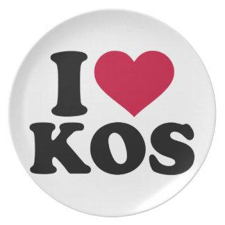 I love Kos Melamine Plate
