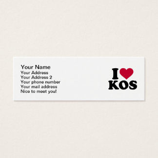 I love Kos Mini Business Card