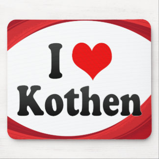 I Love Kothen Germany Ich Liebe Kothen Germany Mouse Pads