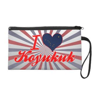 I Love Koyukuk, Alaska Wristlet Purses