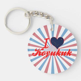 I Love Koyukuk Alaska Keychain