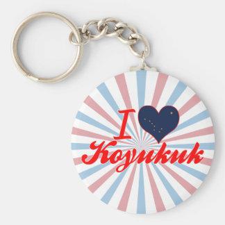 I Love Koyukuk Alaska Key Chains