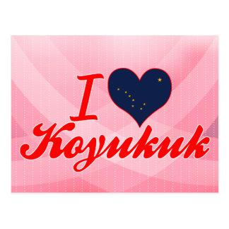 I Love Koyukuk, Alaska Post Cards
