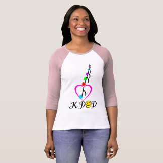 ♪♥I Love KPop Bella Raglan Classic Baseball T-Shirt