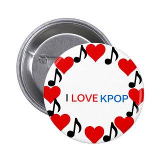 I LOVE KPOP-Button Badge