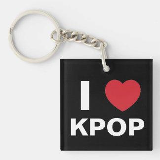 I Love Kpop Keychain (dual side)
