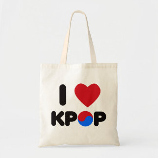 I Love Kpop Tote Bag
