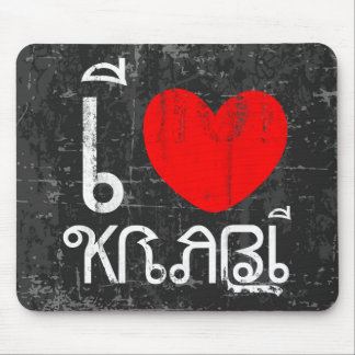 I Love Krabi or I Heart Krabi Mouse Pad