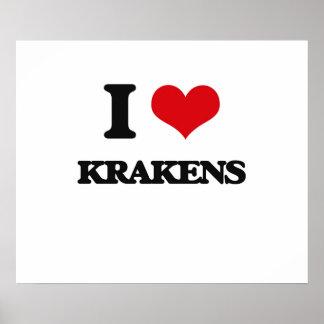 I love Krakens Poster