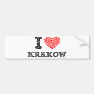I Love Kraków Bumper Sticker