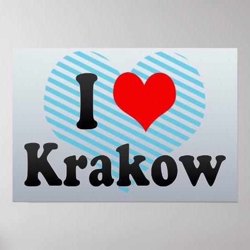 I Love Krakow, Poland Print