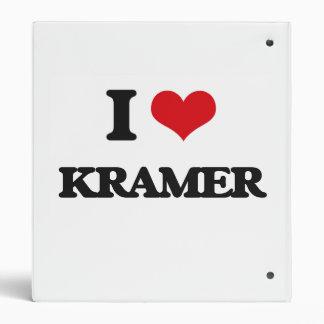 I Love Kramer Vinyl Binder