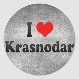 I Love Krasnodar, Russia Classic Round Sticker