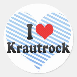 I Love Krautrock Classic Round Sticker