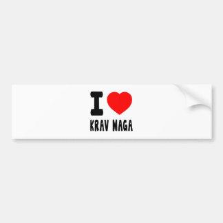 I Love Krav Maga Car Bumper Sticker
