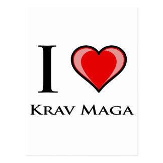 I Love Krav Maga Postcard