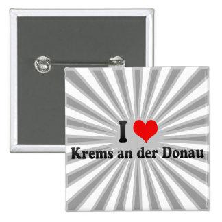 I Love Krems an der Donau, Austria Buttons