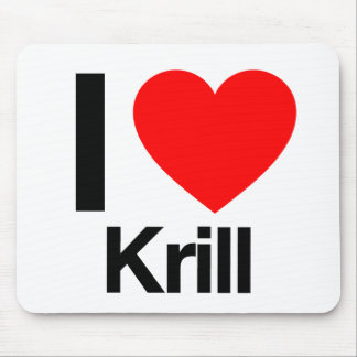 i love krill mouse pad