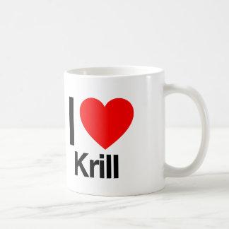 i love krill classic white coffee mug
