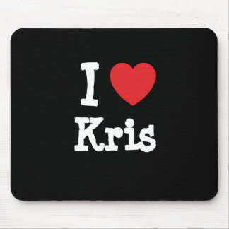 I love Kris heart custom personalized Mouse Pad