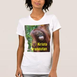 I Love Krista Orangutan Fan Club shirt