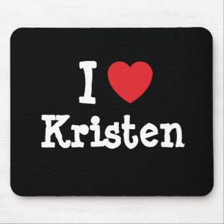 I love Kristen heart T-Shirt Mouse Pad