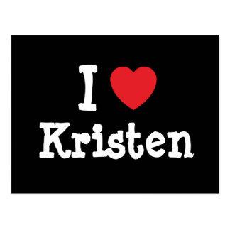 I love Kristen heart T-Shirt Postcards