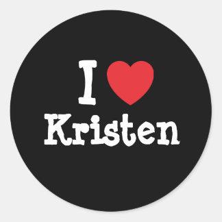I love Kristen heart T-Shirt Stickers
