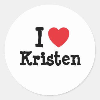 I love Kristen heart T-Shirt Sticker