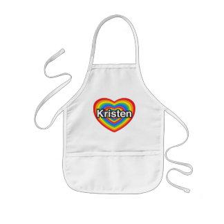 I love Kristen. I love you Kristen. Heart Kids' Apron