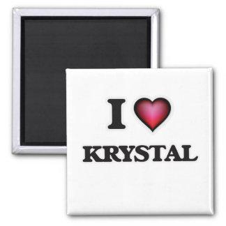 I Love Krystal 2 Inch Square Magnet