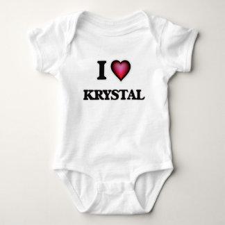 I Love Krystal Baby Bodysuit