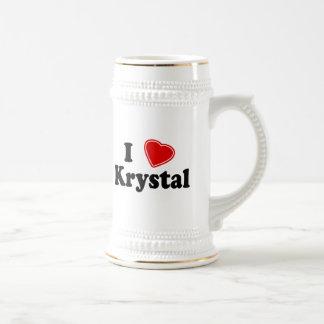 I Love Krystal Beer Stein