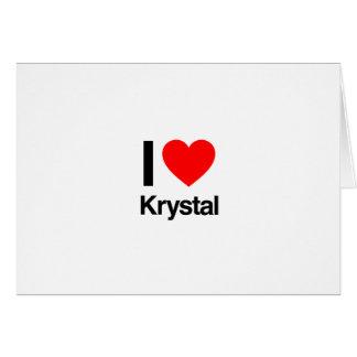 i love krystal cards