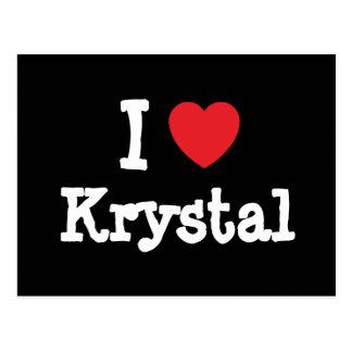I love Krystal heart T-Shirt Postcard