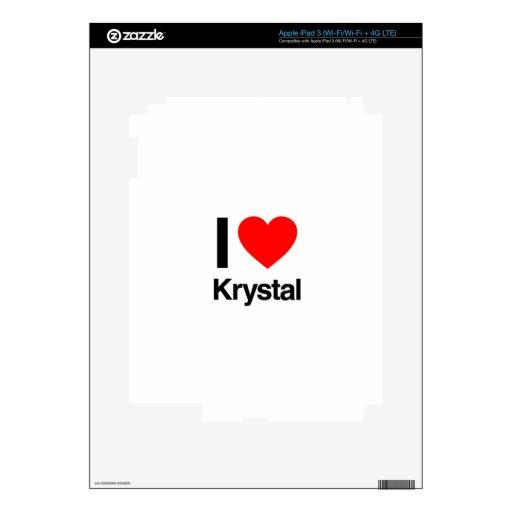i love krystal iPad 3 decals