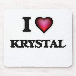 I Love Krystal Mouse Pad