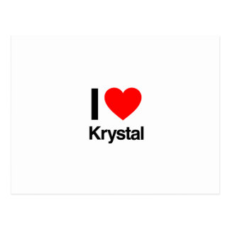 i love krystal post cards
