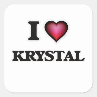 I Love Krystal Square Sticker