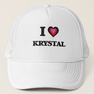 I Love Krystal Trucker Hat