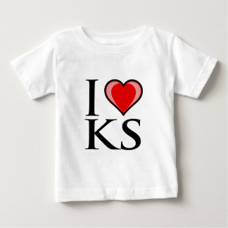 I Love KS - Kansas Baby T-Shirt